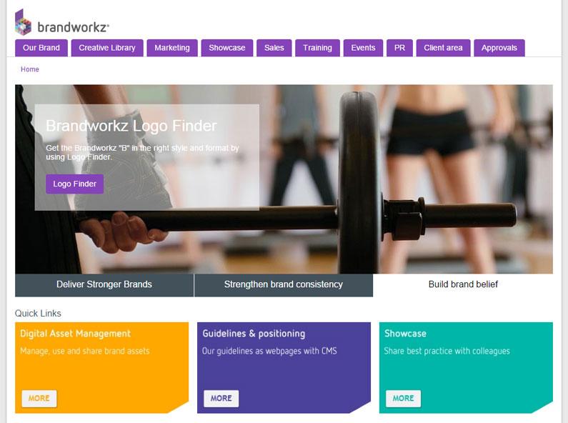 Brandworkz digital asset management interface