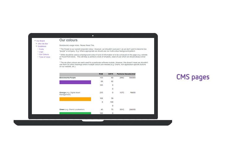 CMS pages