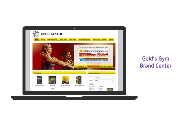 Gold's Gym Brand Centre DAM implementation
