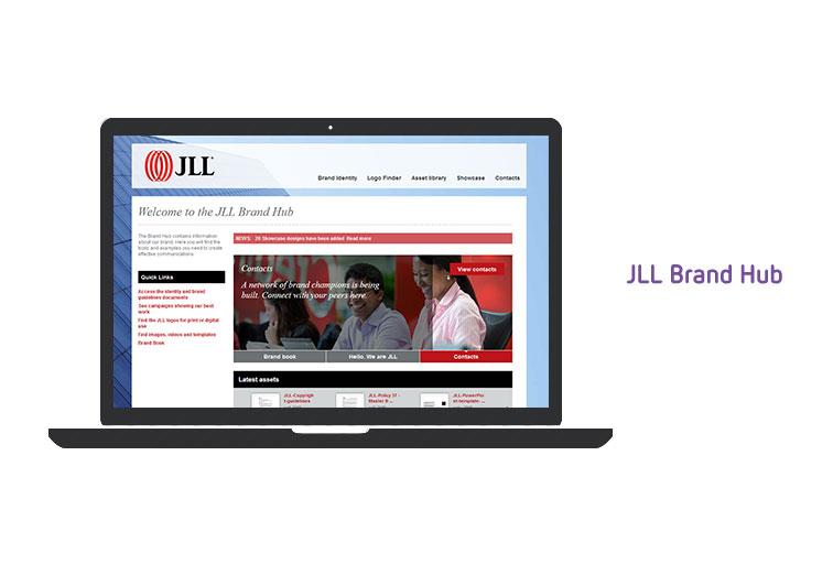 JLL brand hub DAM implementation
