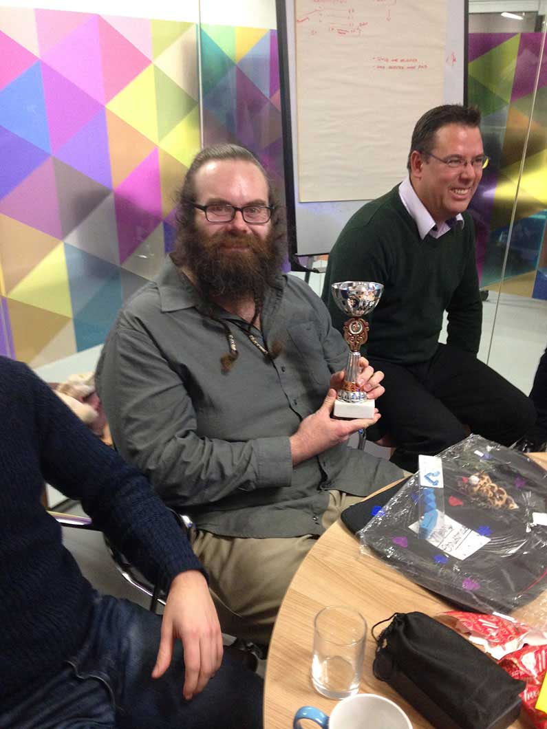 Mark wins the second best employee award