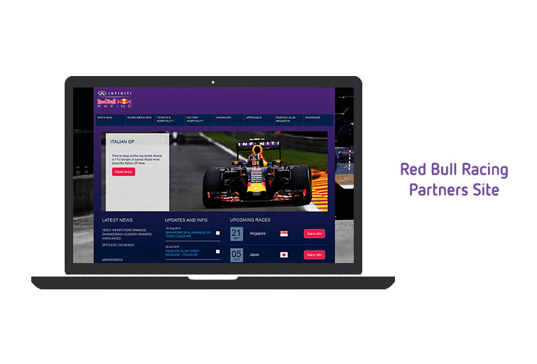Red Bull Racing partners site uses DAM software
