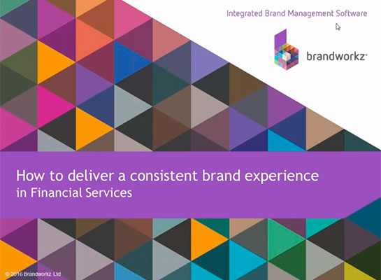 Consistent brand experience opening slide