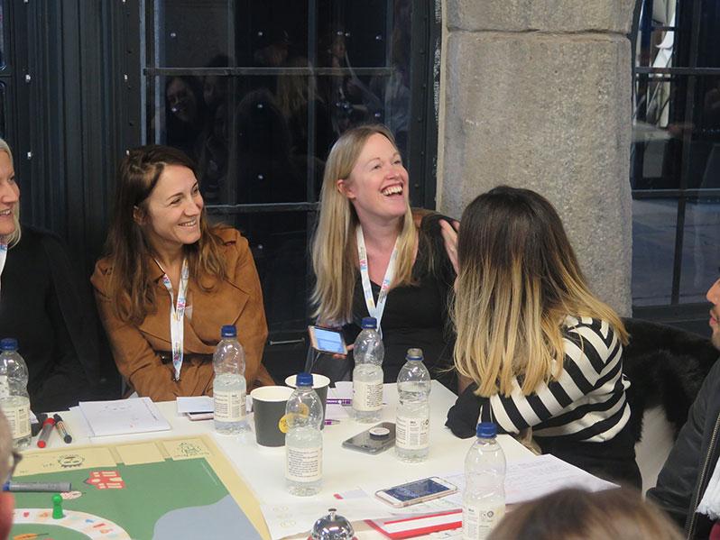 Laughing team