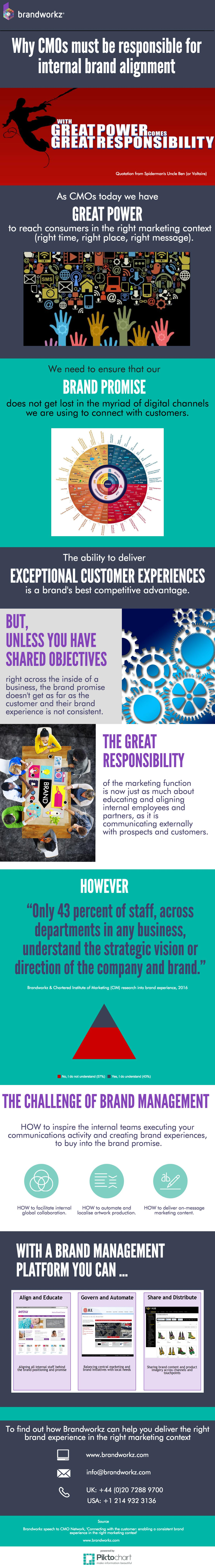 Infographic why cmos must be responsible for internal brand alignment