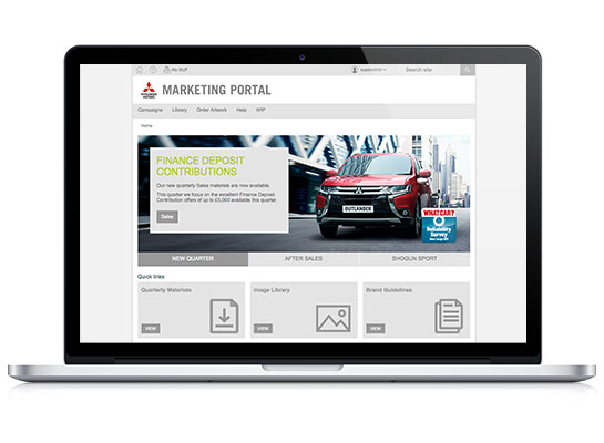 Mitsubishi Marketing Portal