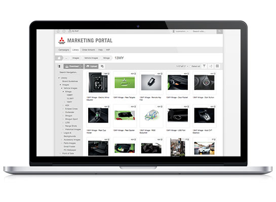 Mitsubishi Motors Digital Asset Management System