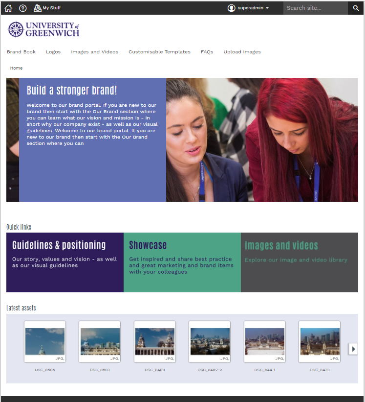 University of Greenwich homepage