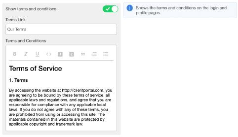 New Terms and Conditions in Brandworkz 8.2