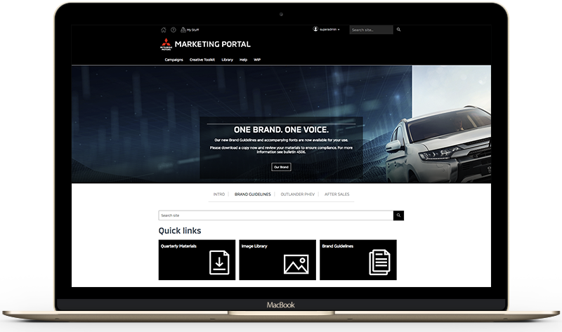Homepage-Mitsubishi-Screen