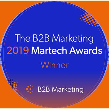B2B Marketing Winner Badge