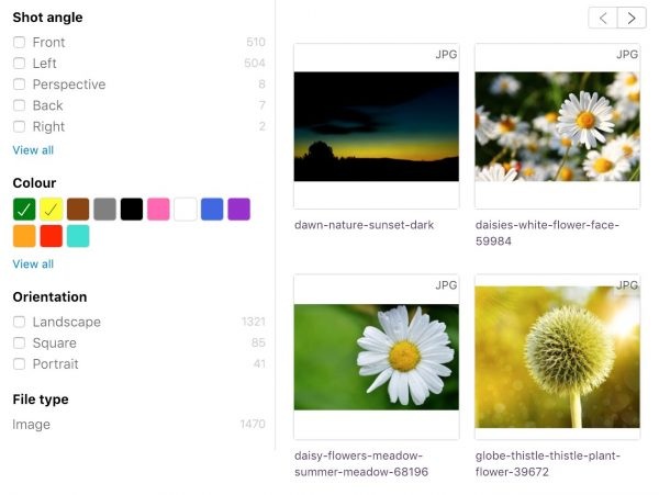 Colour Image Search