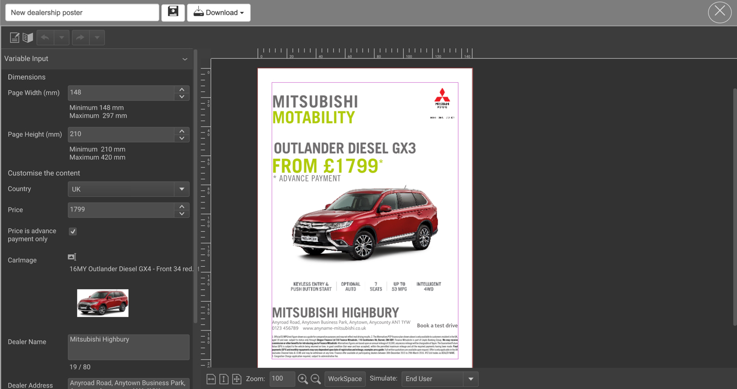 Mitsubishi Web to Publish